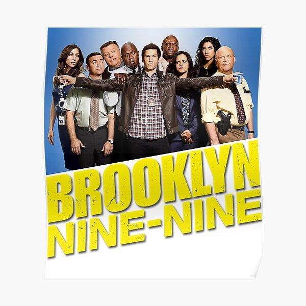Brooklyn Nine Nine 99 - Reparto y logotipo Póster