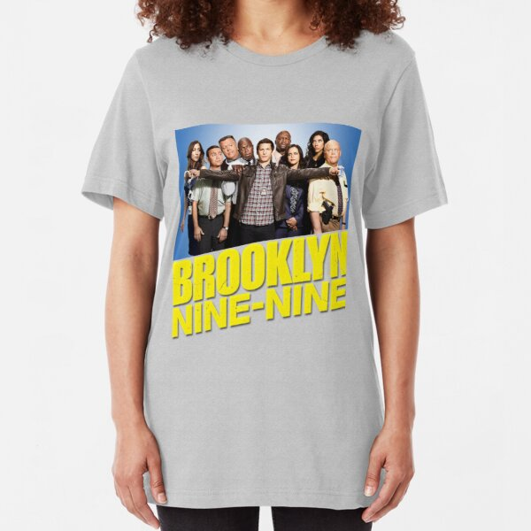 Brooklyn Nine Nine 99 - Cast and Logo Slim Fit T-Shirt