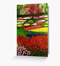 Spectacular Netherlands Tulips Garden Greeting Card
