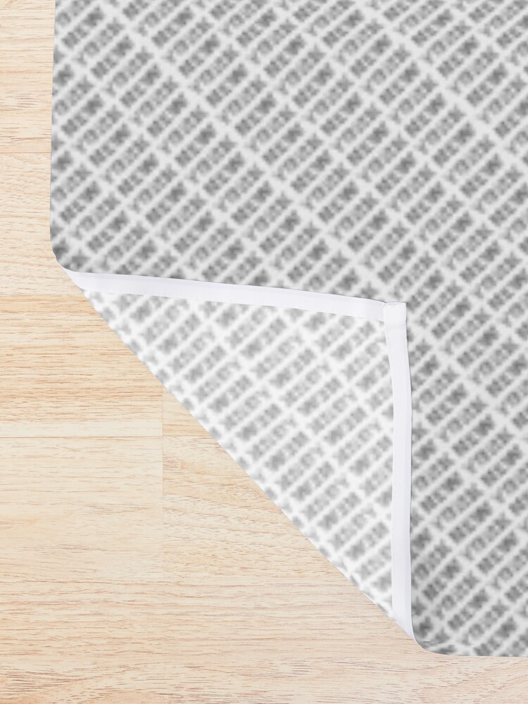 Alternate view of NEW YORK CITY (colour photo-filled type on B&W type background) Shower Curtain
