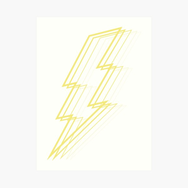 Yellow Lightning Art Print