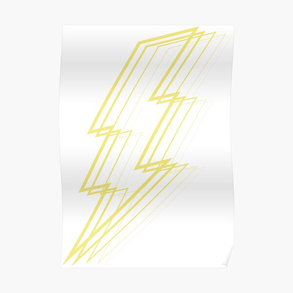Yellow Lightning Poster