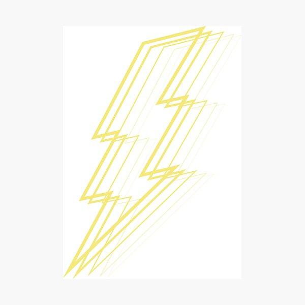 Yellow Lightning Photographic Print