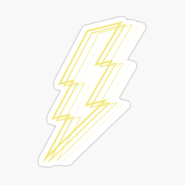 Yellow Lightning Sticker
