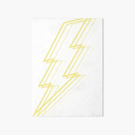 Yellow Lightning Art Board Print