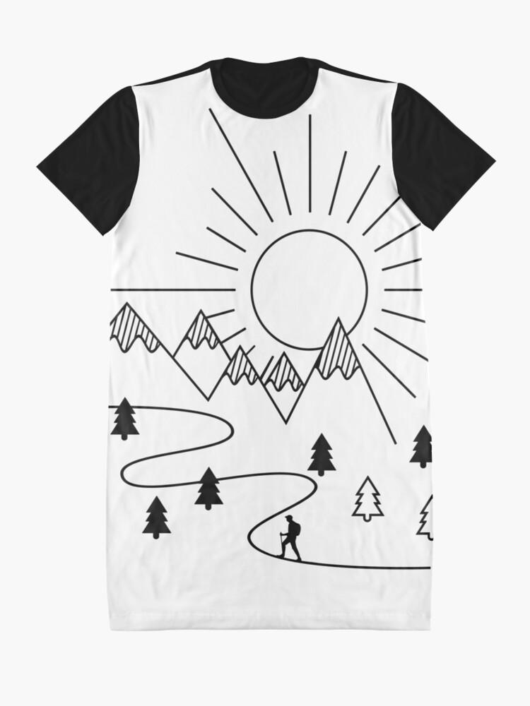Vista alternativa de Vestido camiseta Excursionismo