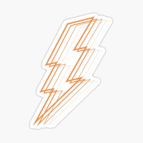 Orange Lightning Sticker