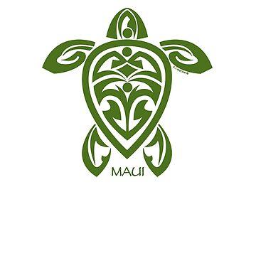 Green Tribal Turtle / Maui by srwdesign