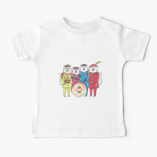 SGT Peppurr's Lonely Hearts Cats Band Baby T-Shirt