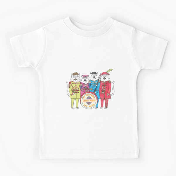SGT Peppurr's Lonely Hearts Cats Band Kids T-Shirt
