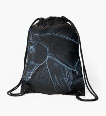 Equine Outline Drawstring Bag