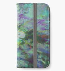 Fraktal Mystic Green iPhone Flip-Case/Hülle/Skin