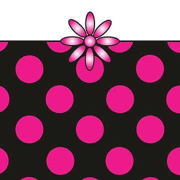 The Katy Phone / Pink Peppermint Polka Dot Parfait by srwdesign