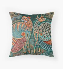 Zoomorphic Winged Beasts Throw Pillow