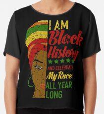 Ich bin schwarzer Geschichtsmonat Afrikanerin Chiffontop