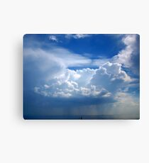 Stormy sky with clouds Canvas Print