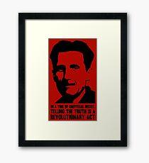 Wahrheit ist revolutionär - George Orwell Gerahmtes Wandbild