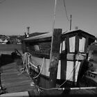 A Boathouse at Sausalito Docks. Sausalito, California by Igor Pozdnyakov