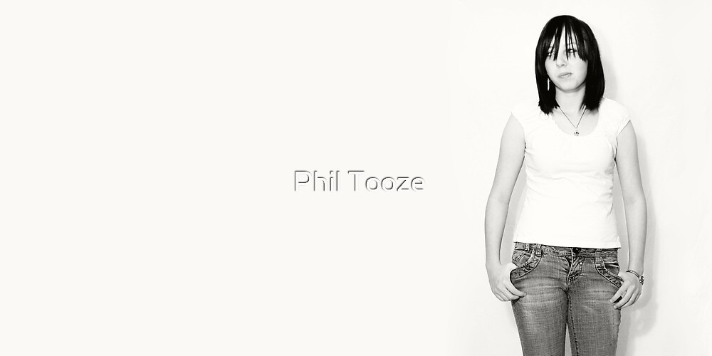 Girl In A Empty White Room by riotphoto