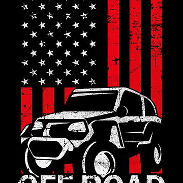 Offroad American Flag Vintage Car Jeep USA Gift by Rueb