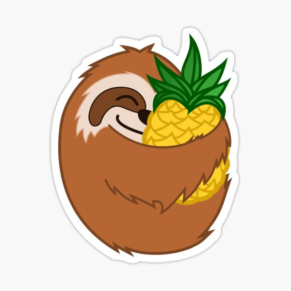 Pineapple Sloth Sticker