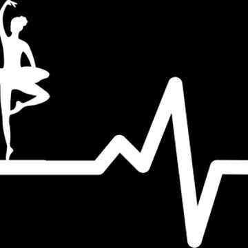 Ballet Dancing Piano Heartbeat Gift Pulse Dance by Rueb