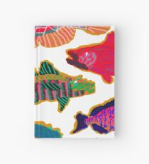 Colorful Abstract Fish Art  Hardcover Journal