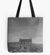 Cottage at Loch Meallbrodden, monochrome. Tote Bag