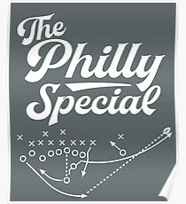 The philly special script sports font Poster