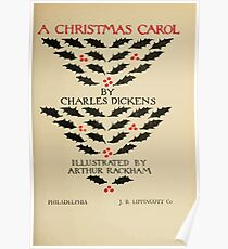 A Christmas Carol by Charles Dickens art by Arthur Rackham 1915 0009 Title Plate Poster