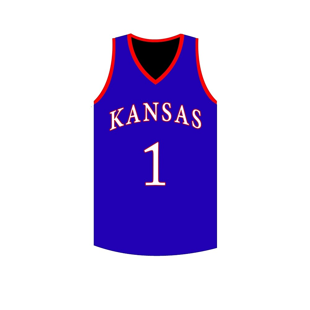 finest selection eb677 2d70c Kansas Jayhawks Basketball Jersey Sticker