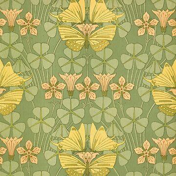 Art Nouveau,vintage,rustic,pattern by love999
