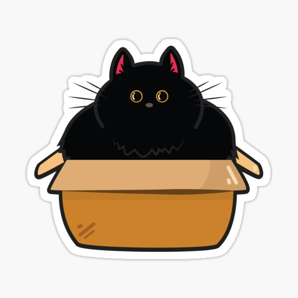 Cats and Boxes Sticker