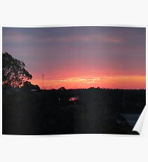 Coloured Sunset Poster