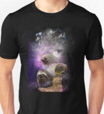 Camiseta unisex espacio nebulosa perezosa