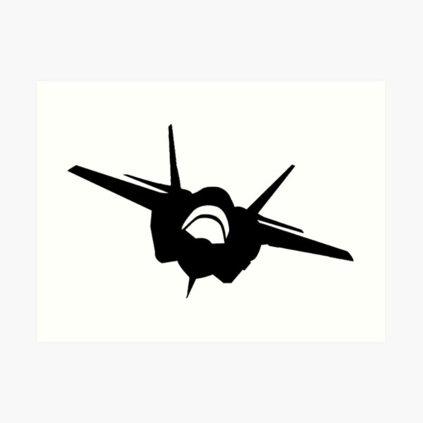 F16 Flying Jet Silhouette Art Print By Aaronisback Redbubble