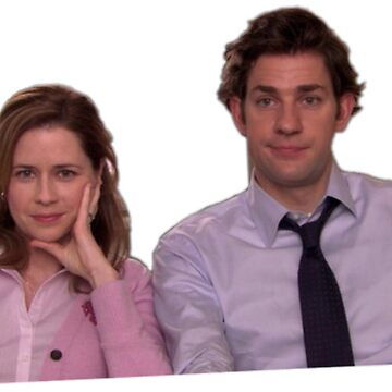The Office Sticker Pam and Jim by katherineshek