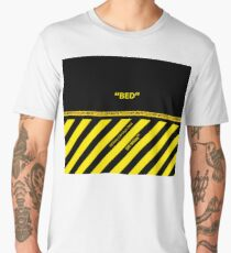 Off White Bed Cover Full Yellow Stripes Men's Premium T-Shirt