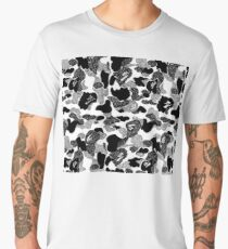 Classic Bape Camo Pattern Black and White Men's Premium T-Shirt
