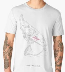 Tsundere Shark Scientific Illustration Men's Premium T-Shirt