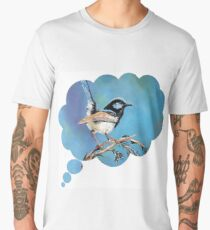 Blue Wren Men's Premium T-Shirt