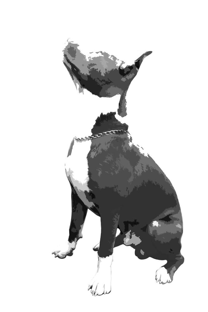 Pit Bull dog by mpushkina