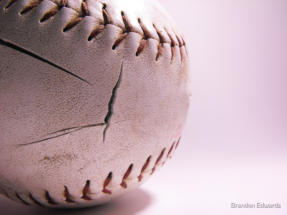 Worn Down Softball by Brandon Edwards