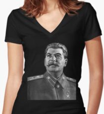 Josef Stalin Fitted V-Neck T-Shirt