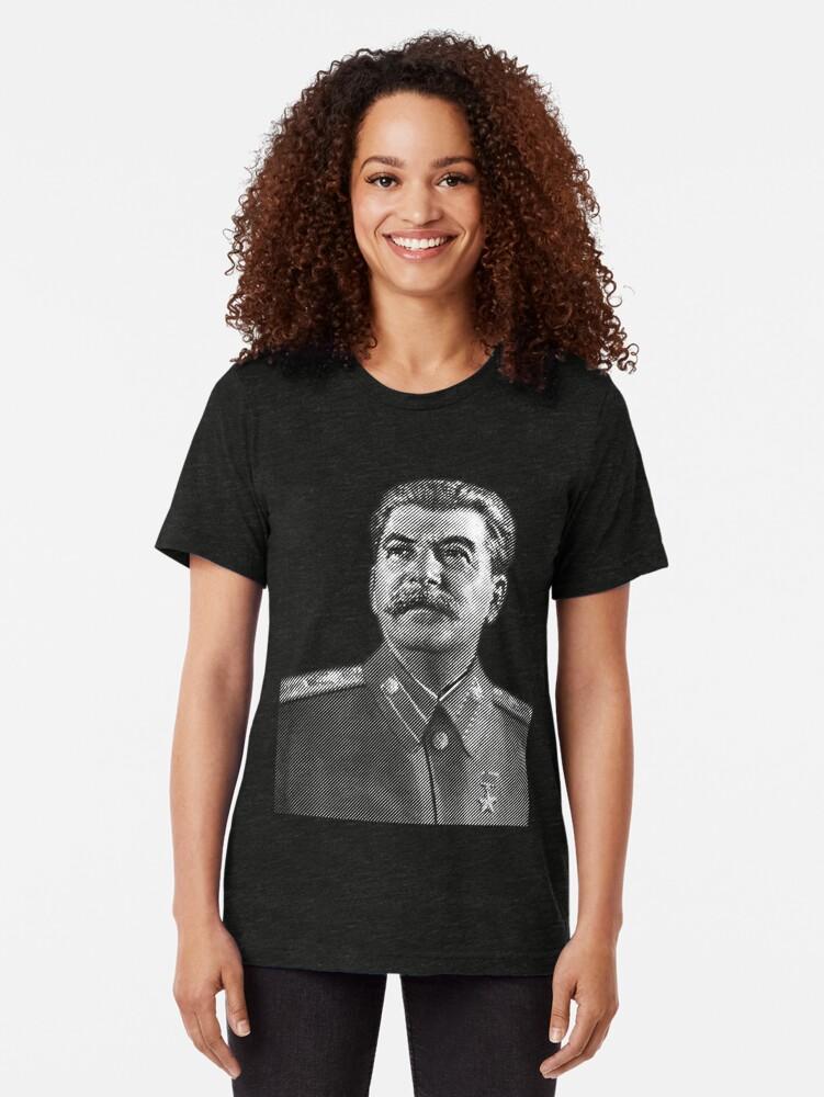 Alternate view of Josef Stalin Tri-blend T-Shirt