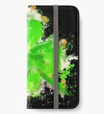 Four-leaf clover clover luck watercolor painted iPhone Wallet/Case/Skin