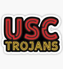 USC Trojans Neon Sign Sticker