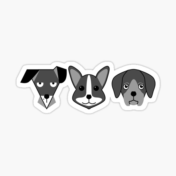 Triplet Mono Dogs Sticker