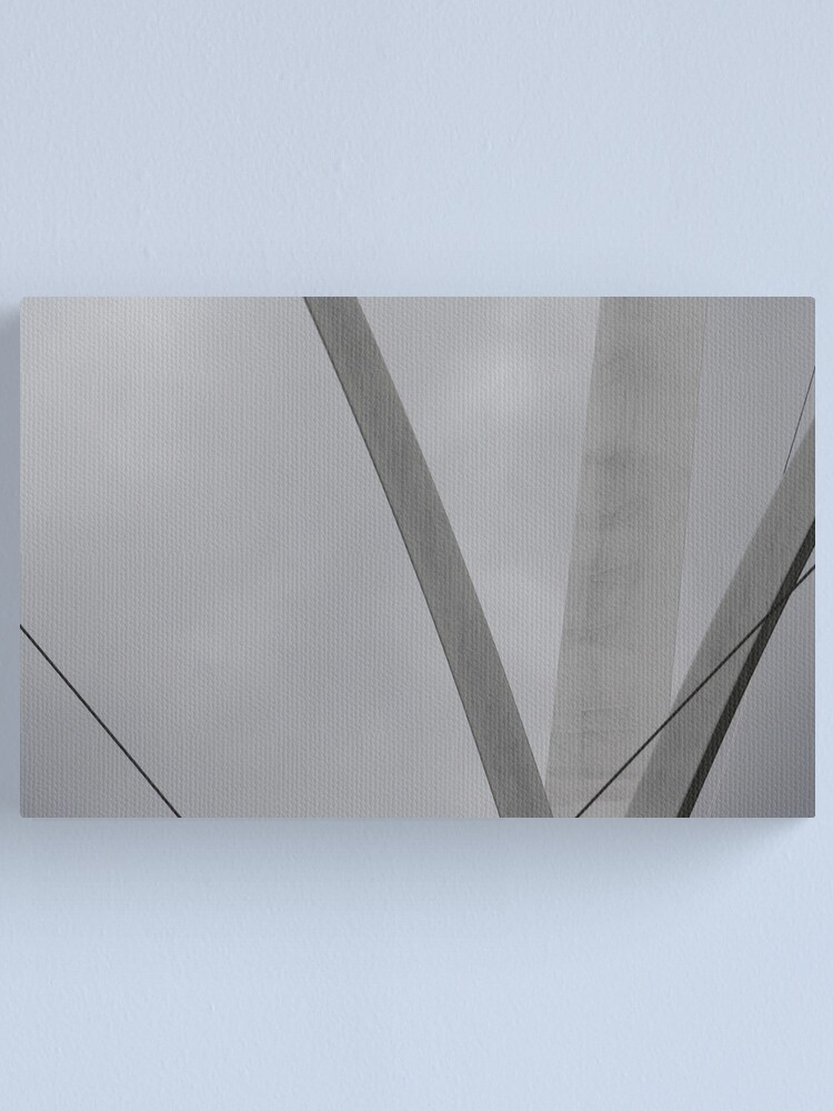Alternate view of Lines in the Mist Canvas Print
