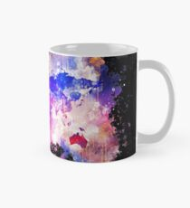Galaxy map of the world space watercolor painted Mug